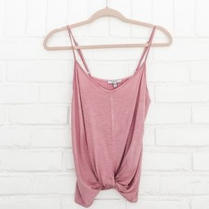 🍁Iris Pink Twist Front Tank Top Size S